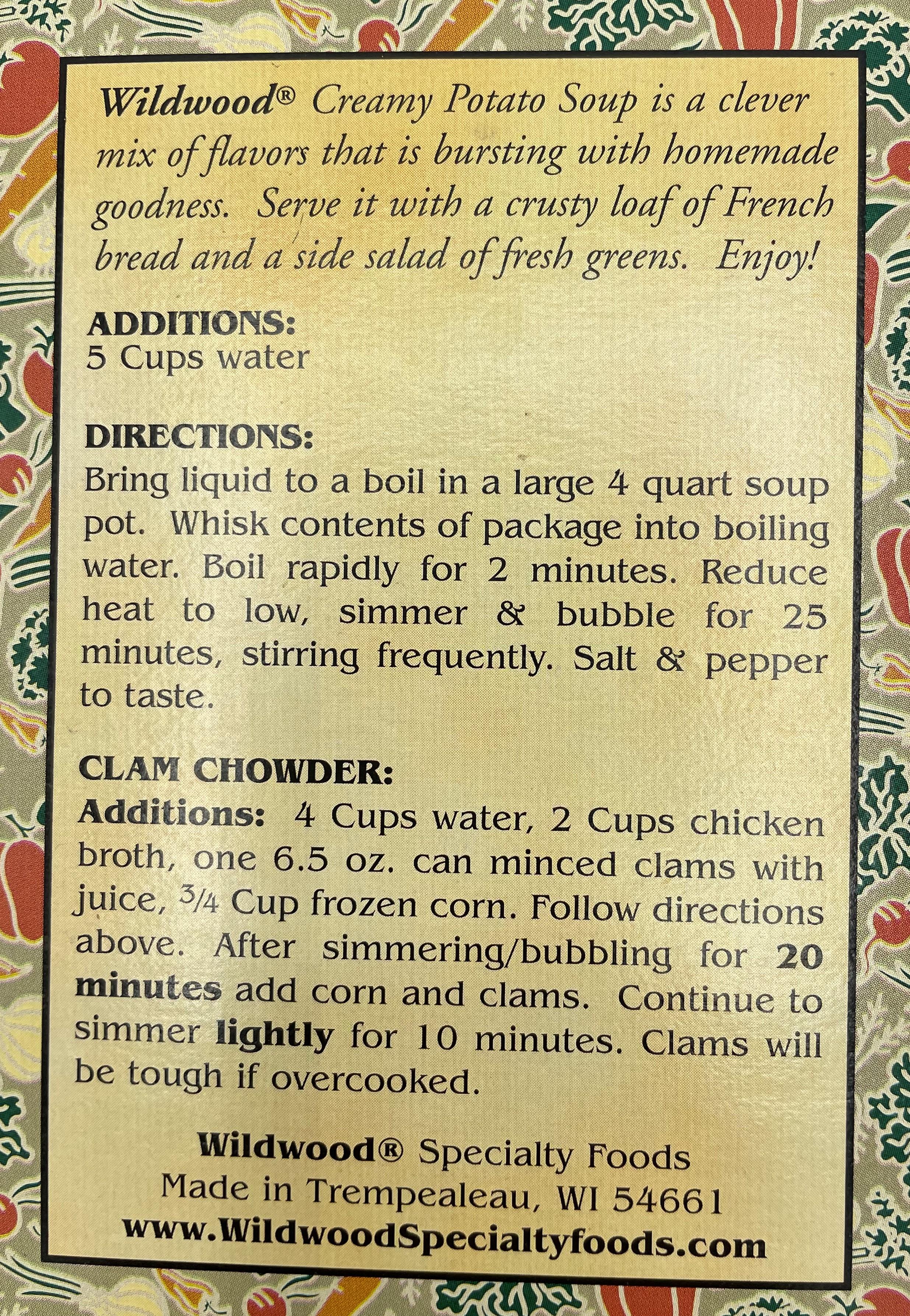 Wildwood Creamy Potato Soup