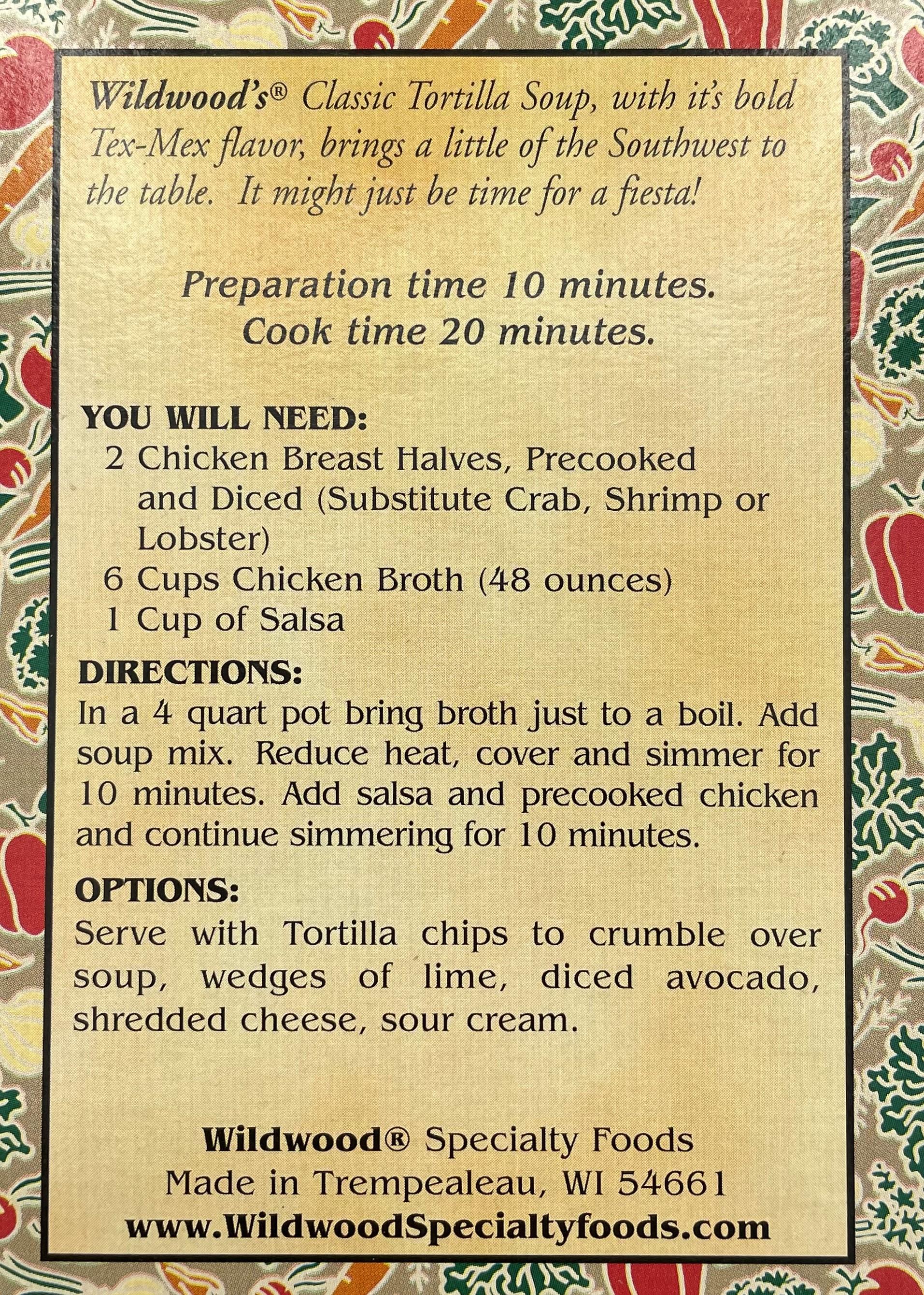 Wildwood's Classic Tortilla Soup